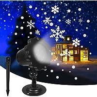 KAREEME Outdoor Waterproof Rotating Snowfall Christmas LED Light Projector