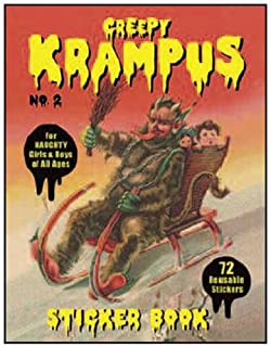 Creepy Krampus Sticker Book No.2: 72 Reusable Stickers for Naughty Girls & Boys of All Ages