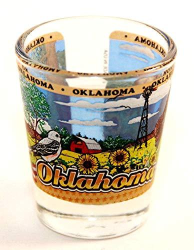 Oklahoma State Wraparound Shot Glass