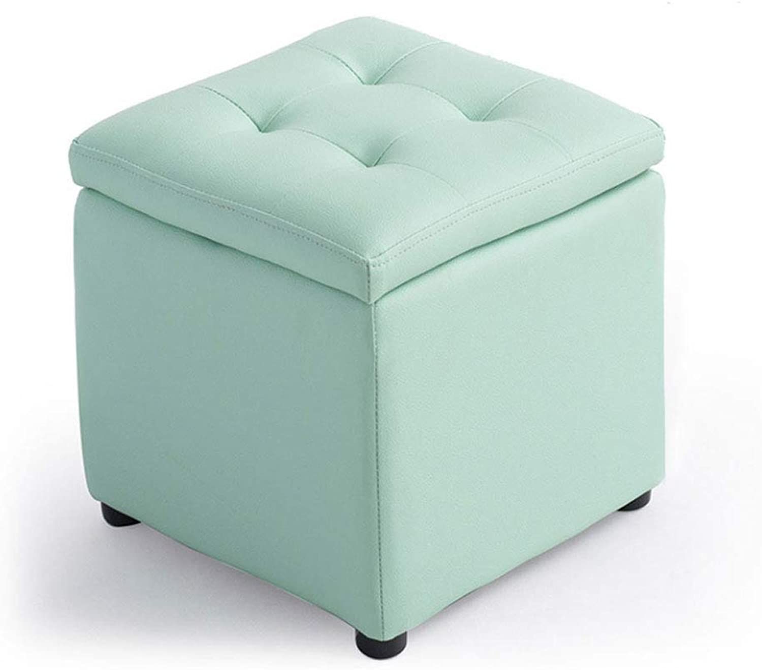 ZXW STOOLS- Multi-Functional Storage Stool, shoes Bench, Hallway Sofa Bench (color   Green, Size   34x34x36cm)