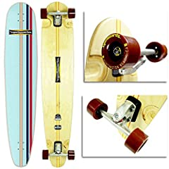 ✅ UNIQUE QUALITY: Great all around board. Its narrow design and long length is created for deep leans and cross stepping. ✅ WEIGHT LIMIT: Good for riders of all sizes, No weight limit which makes it suitable best longboard for all ages (best for 100-...
