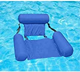 CARTSHOPPER Hammock Inflatable Pool Float Lounge Water Chair for Adults,Lake Swimming Floating Chair Pool Seats Lounger Portable Lazy Water Bed Lounge Chairs(1 Pcs)