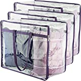 Clear Zippered Storage Bags   Closet Organizer Vinyl Bag for Bedding, Linen, Blankets, Duvet Covers, Comforters, Clothes & Toys   Multi Purpose & Space Saver PVC Organizers