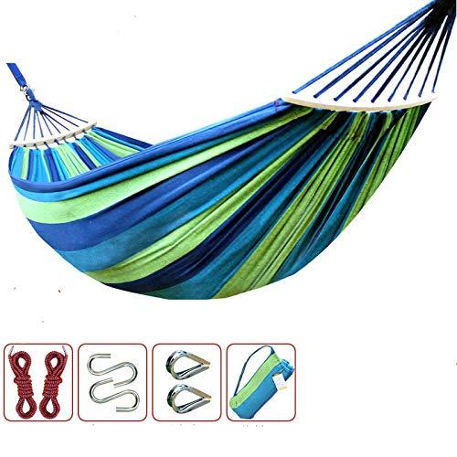 ZGRZ Hamaca antivuelco Hamaca de jardín de Lona Columpio Hamaca de Dormitorio al Aire Libre Hamacas para Acampar 280 * 100 Silla Colgante, Soporte de Carga: 300 kg