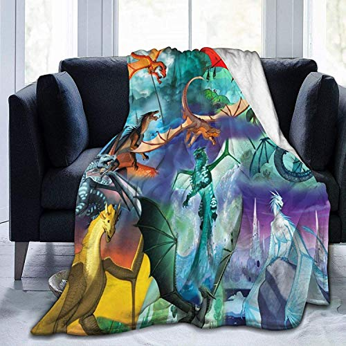 BettiCharm Wings of Fire - Manta cálida para silla, cama, sofá o sofá de 150 x 150 cm