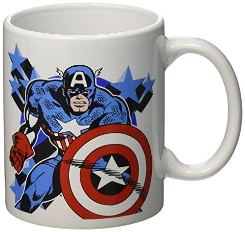 Zak Designs Mrtm-1590 Marvel Comics fer Man-captain America Mug en céramique, Medium, Multicolore