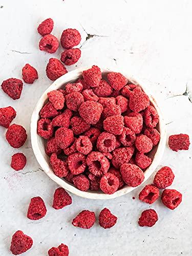 Bio Himbeerstücke gefriergetrocknet   Premium Qualität   Himbeeren getrocknet   Aus 100% kontrolliertem Anbau   Vegan   100% Frucht… (200g)