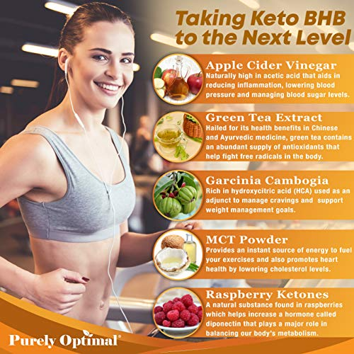 Premium Keto Pills + Apple Cider Vinegar Capsules with Mother - Utilize Fat for Energy with Ketosis, Boost Energy & Focus, Manage Cravings, Metabolism Support - BHB Keto Diet Pills for Women, Men 8