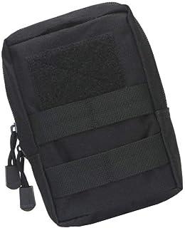 SRTYZ Mochila Táctica de Hombro Bolsa de Cintura Molle Bolsa Táctica Negro Utilidad Gadget Bolsa de Cintura Impermeable Mini EDC Bolsa para Senderismo, Acampar, Cazar, Correr, Escalar - 18 x 17 x 5cm