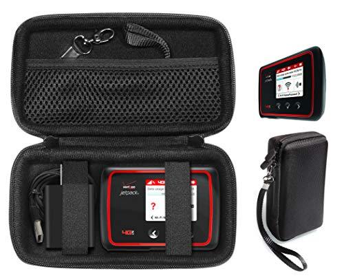 CaseSack Case for Verizon MiFi 6620L, 8800L, Jetpack 4G LTE Mobile Hotspot, TP-Link AC750 Wireless Portable Nano Travel Router, Mesh Accessory Pocket, Detachable Wrist Strap