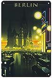 Berlín clásico nostálgico arte retro pintura de hojalata letrero de metal decoración de pared regalo perfecto para colgar 7.8X11.8 pulgadas