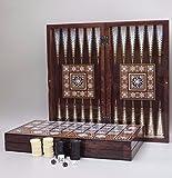 wooden backgammon board - The 19'' Magic Star Backgammon Turkish Premium Board Game Set