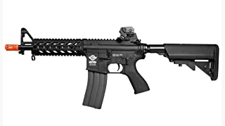 g&g airsoft combat machine m4 raider high-performance full metal gearbox aeg rifle w/ integrated ras and crane stock(Airsoft Gun)