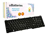 UBatteries Compatible Keyboard Replacement for Toshiba Satellite C650 C650D C655 C655D C660 C670 C675 C675D L650 L650D L655 L655D L670 L670D L675 L675D L750 L750D L755 L755D L770 L770D L775 L775D