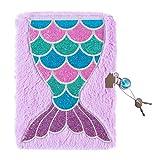 3C4G Mermaid Plush Journal with Sparkling Jem Lock