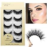 50 Pair Mix False Eyelashes, 3D Faux Mink Fake Eyelashes Handmade Dramatic Thick Crossed Cluster False Eyelashes Black Nature Fluffy Long Soft Reusable