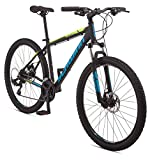 Schwinn Mesa 2 Adult Mountain Bike, 21 Speeds, 27.5 Inch Wheels, Large Aluminum Frame, Black