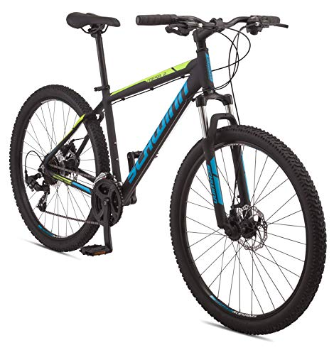 Schwinn Mesa 2 Adult Mountain Bike, 21 Speeds, 27.5-Inch Wheels, Small Aluminum Frame, Black