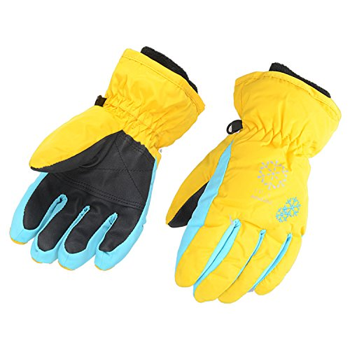 AMYIPO Kids Winter Snow Ski Gloves Children Snowboard Gloves for Boys Girls (Yellow, XS (4-5 Years))