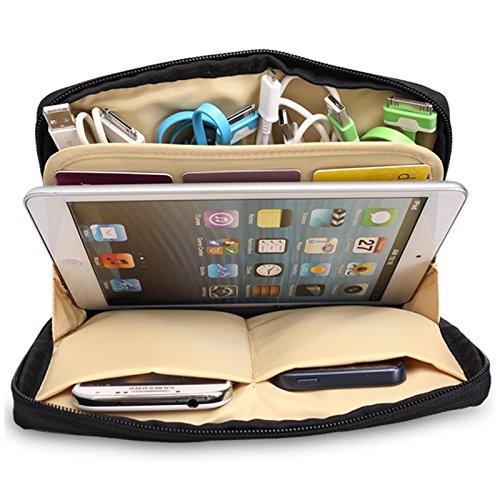 Generic Gris: bolsa de viaje de doble capa impermeable organizador de alambre...