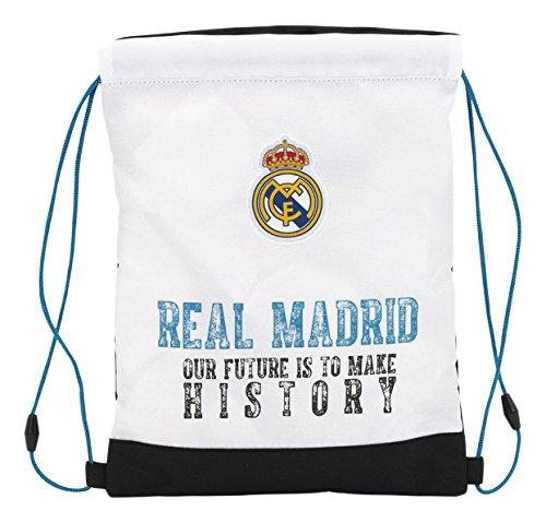 Real Madrid 11754borsa di corde per palestra, 34cm, colore: Bianco