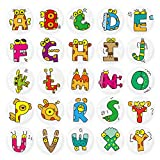 HSJH Refrigerator Magnets 26pack Colorful Beautiful Letter Fridge stickers Funny for Office Cabinets Whiteboards Decorative Photo Kids And Adults Gift