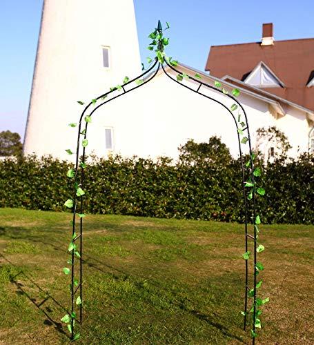 defacto Rosenbogen Rankgitter Gartentor Rankhilfe - 230x118x40 cm - Metall - Farbe: Schwarz-Rostfrei DF-002 2 STÜCK