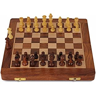 Chess Set - Wooden Travel Chess Set Magnetic Chess Set For Kids Adults Chess Board Folding Tournament Game Board 10.5 inch Storage Family outdoor chess game Portable Handmade with 2 Extra queens:Diet-beauty