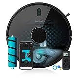 Cecotec Robot Aspirador Conga 5490. Tecnología láser, 10.000 Pa, Cepillo Jalisco, Room Plan,App, Cepillo Especial Mascotas, Compatible 5 GHz, Mando a Distancia