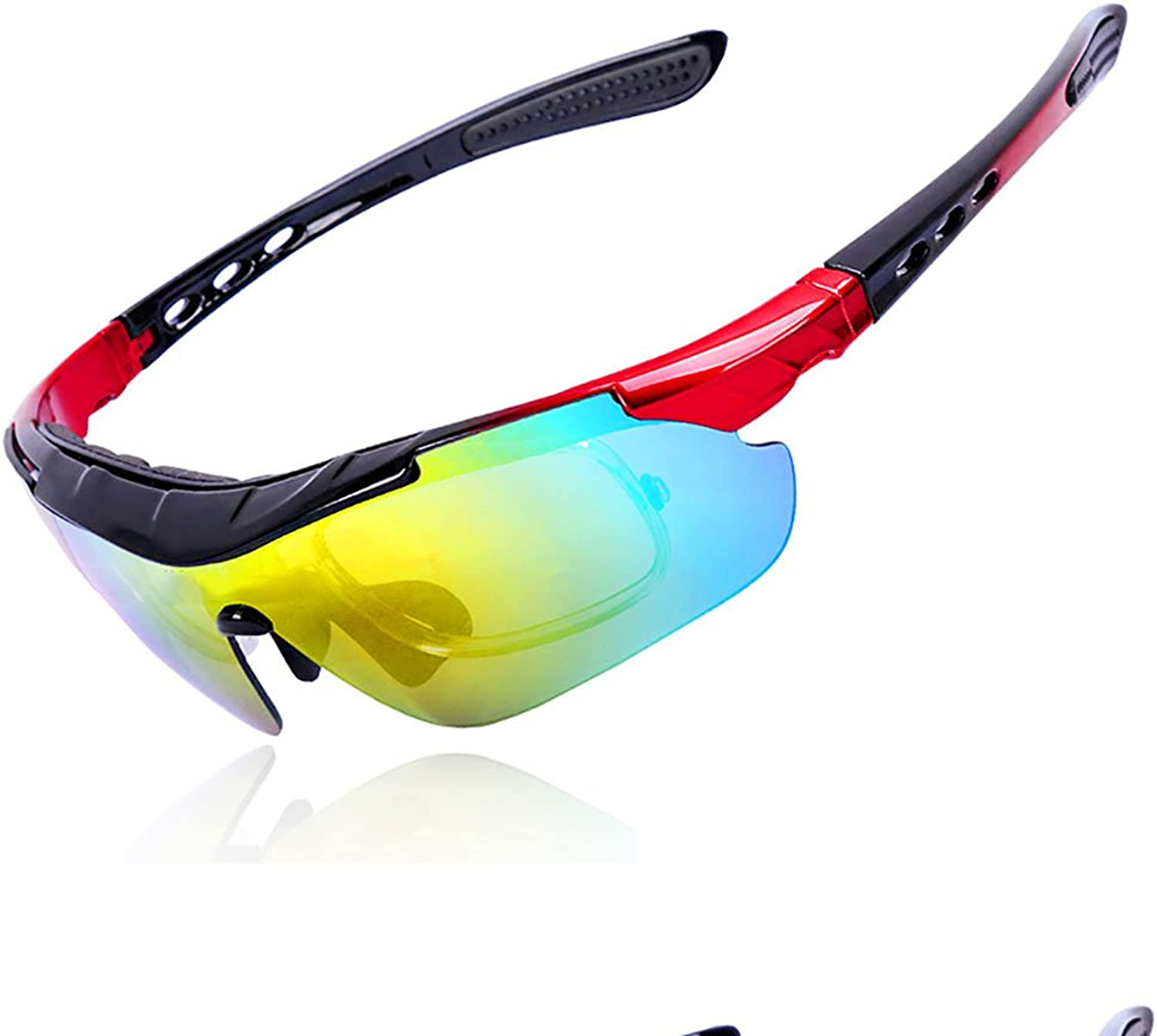 Cycling Glasses Mountain Bike Sunglasses Polarized Outdoor Sports Windshield Light and Comfortable UV Predectionwith Myopia Frame