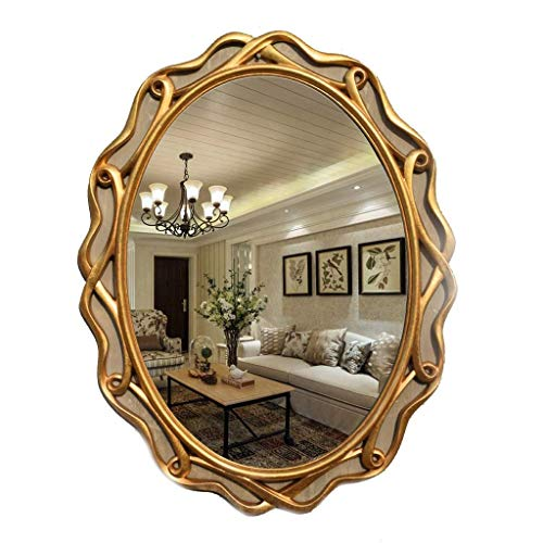Yeeseu Espejo de maquillaje llevado espejo de maquillaje grandes espejos de pared Compatible with sala de estar antiguo, estilo vintage elegante lamentable Big Wall Espejo de baño Espejo Espejo luz de