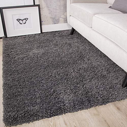 Ontario Grey Soft Warm Thick Shaggy Shag Fluffy Living Room Area Rug