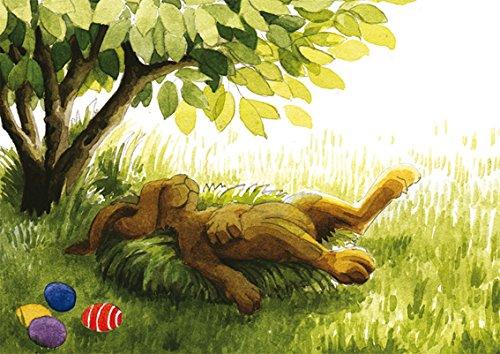 Postkarte A6 • 63201 \'\'Müder Hase\'\' von Inkognito • Künstler: Kathrin Kraft • Ostern