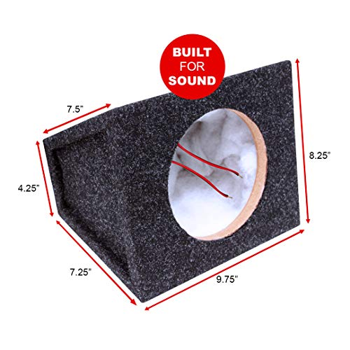 """Atrend Bbox SC6.5PRC 6.5"""" Pro Audio Tuned Speaker Enclosures (2), Charcoal with Polyfill"""