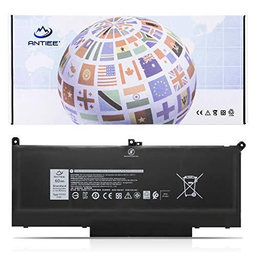 ANTIEE 60Wh F3YGT Laptop Battery for Dell Latitude 12 7000 7280 7290 13 7380 7390 P29S002 14 7480 7490 P73G002 E7480 E7280 E7290 Business Notebook DM3WC DM6WC 2X39G KG7VF V4940 451-BBYE 453-BBCF 7.6V