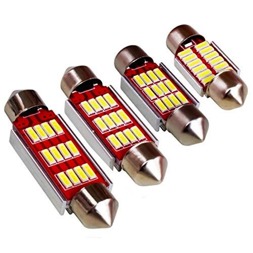 Glühbirne autolampen Festoon 31mm 36mm 39mm 41mm LED Birne C5W C10W Canbus Kein Fehler 12 SMD 4014 LED Innenkuppel Schwache Map Leselampe Weiß DC12V led glühbirnen (Emitting Color : 39mm white)