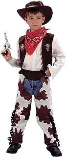Bristol Novelty CC657 Cowboy Cow Print Chaps Costume, White, Medium, Approx Age 5 - 7 Years, Cowboy (M).Cowprint Chaps