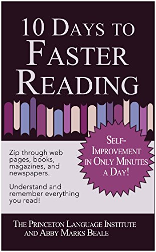 10 Days to Faster Reading: Jump-Start Your Reading Skills with Speed reading (English Edition)