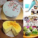 Weiß Cake Decorating Supplies -Tortenplatte drehbar Tortenständer Kuchen Drehteller für Backen Gebäck Cake Decorating Turntable mit 2 Stück Winkelpalette Set - 7