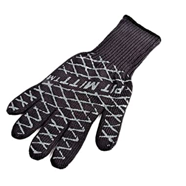 Charcoal Companion Ultimate Barbecue Pit Mitt Glove - For Grill or Oven - Measures 13  Long - CC5102.