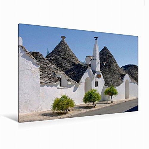 Premium Textil-Leinwand 120 x 80 cm Quer-Format Trulli in Apulien | Wandbild, HD-Bild auf Keilrahmen, Fertigbild auf hochwertigem Vlies, Leinwanddruck von LianeM