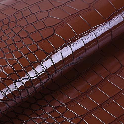 MUYUNXI Polipiel Cuero Artificial De Cuero para Tapizar Sofá Polipiel Silla Manualidades Cojines 138 Cm De Ancho Vendido por Metro(Color:Marron Oscuro)