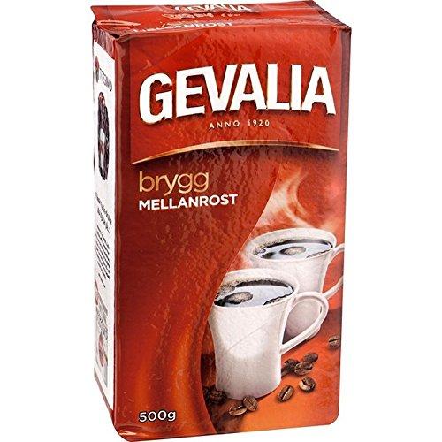 Gevalia Ausspruch Mellanrost–Medium Lage von geröstet Boden Filter des Kaffee 500g (Packung von 6)