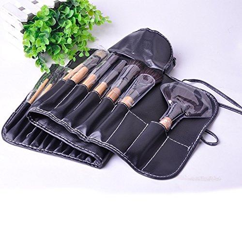 aloiness Pinceaux de Maquillage Synthétique, 32Pcs Beauté Maquillage Brosse Pinceau Poudre Fond Cosmétique Brush Cosmétique Professionnel Kits