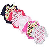 TupTam Body para Bebé de Manga Larga, Pack de 5, Niña, 6-9 Meses(74cm)