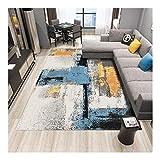 La alfombra Resumen Forma Arte Moderno Personalidad Minimalista Moda diseño Europeo patrón HAODAMAI (Color : B, Size : 80x160cm)