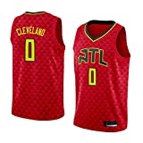 Camiseta de Baloncesto para Hombre NBA Atlanta Hawks 0# Cleveland Cómodo/Ligero/Transpirable Malla Bordada Swing Swing Sworing Sweatshirt,L