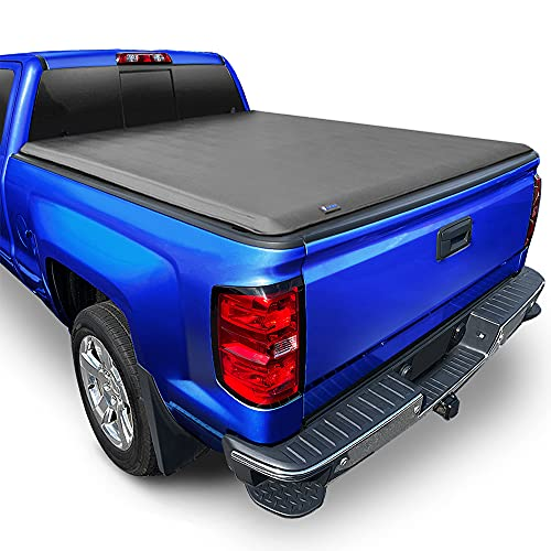 Tyger Auto T1 Soft Roll Up Truck Bed Tonneau Cover for 1988-2007 Chevy Silverado / GMC Sierra 1500 2500 HD 3500 HD 2007 Classic ONLY Fleetside 6'6' Bed TG-BC1C9009, Black
