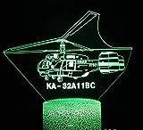 Combattente Luce Notturna 3D 7 Colori Decorazione Della Casa Lampada Da Tavolo Base Crepa Led Touch Light Luce Illusione 3D