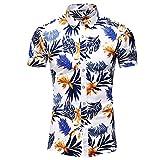 DiseñO De Moda Camisa Casual De Manga Corta Blusa De Playa con Estampado De Hombres Ropa De Verano